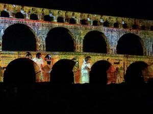Mise en lumière - Pont du Gard