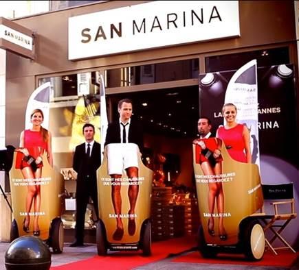 Festival de Cannes : La vidéo de l'opération de street marketing à gyropode Segway pour San Marina !