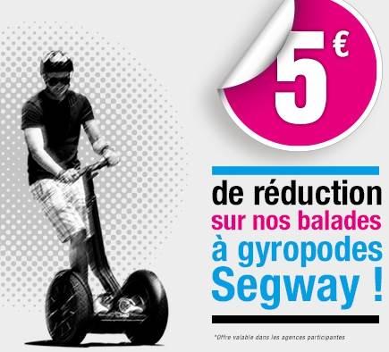 Profitez de 5 euros de réduction sur les balades à gyropode Segway du réseau Mobilboard !