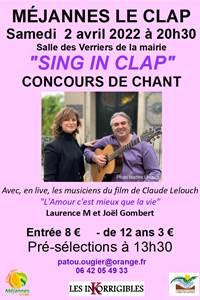 """Concours de chant """"Sing'in Clap"""" 2020"""