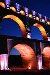 Mise en lumière du Pont du Gard