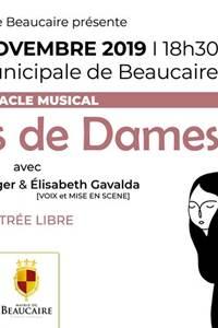 """Spectacle musical """"Portraits de dames"""""""