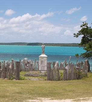 Palissade sculptée de l'île des Pins