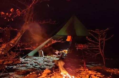 La vue des cimes campement de nuit ©